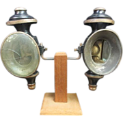 Antique PR Coach Candle Lanterns