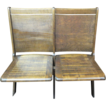 Wooden Double Seat Theater Chair