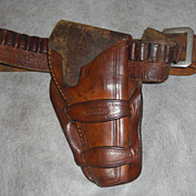 Antique R.T. Frazier Western Gun Holster and Bullet Belt RARE! Circa 1890