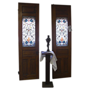Antique Stained Glass Doors Circa 1880 Fabulous!