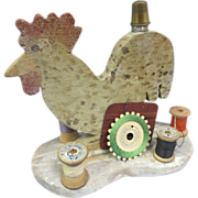 Primitive Folk Art-Sewing Chicken