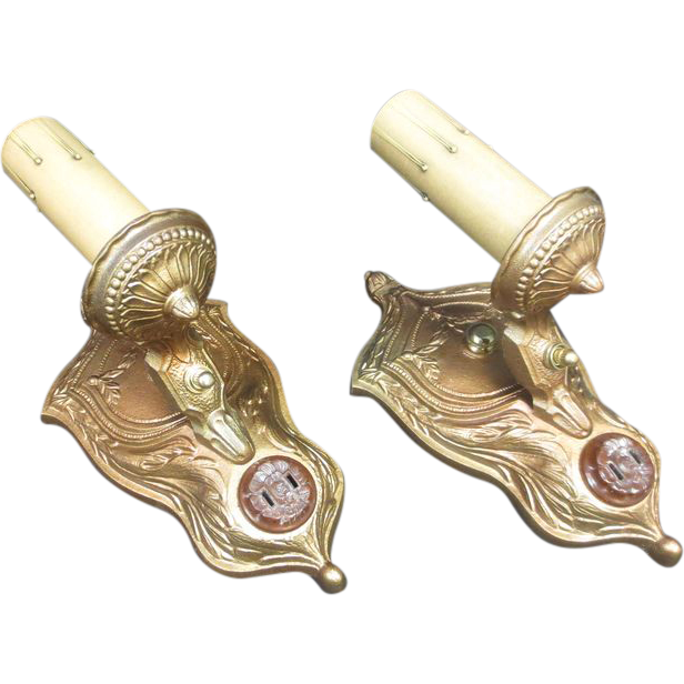 Pair of Lighted Wall Sconces