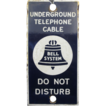 """Bell System"" Underground Telephone cable Sign Porcelain"