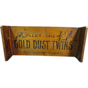 REDUCED Gold Dust Twins Advertising Display