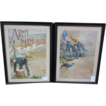 "Pair of Signed ""Louis Harlow"" Prints ""Army Memories"""