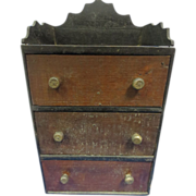 REDUCED Folk Art Mini Curio/Dresser