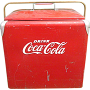 Vintage Coca Cola Beverage Cooler Usable!