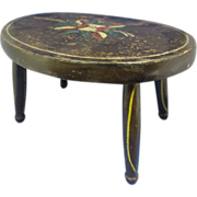 SALE Antique Painted Stool