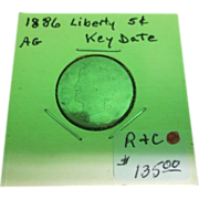 1886 Liberty Nickel Key Date