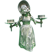 Kate Greenaway Double Candlestick Holder for Doll Room