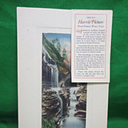 Vintage Salesman's Sample Harris Picture Hand Painted Watercolor