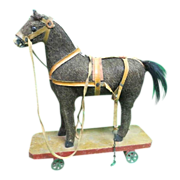 Antique German Pull Toy Horse