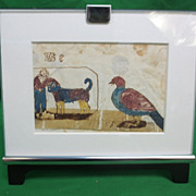 SOLD Antique 1858 Carolina Brey Fraktur Drawing in Modern Frame