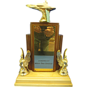 Vintage Speed Boat Racing Figural Trophy 13""