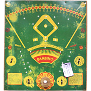 Bambino (Babe Ruth) Tin Game Board