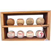 Group of 8 Collection of Cork Baseballs