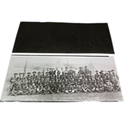"16"" x 6"" Negative W/ Photo Re-Print Cavalry Troop"