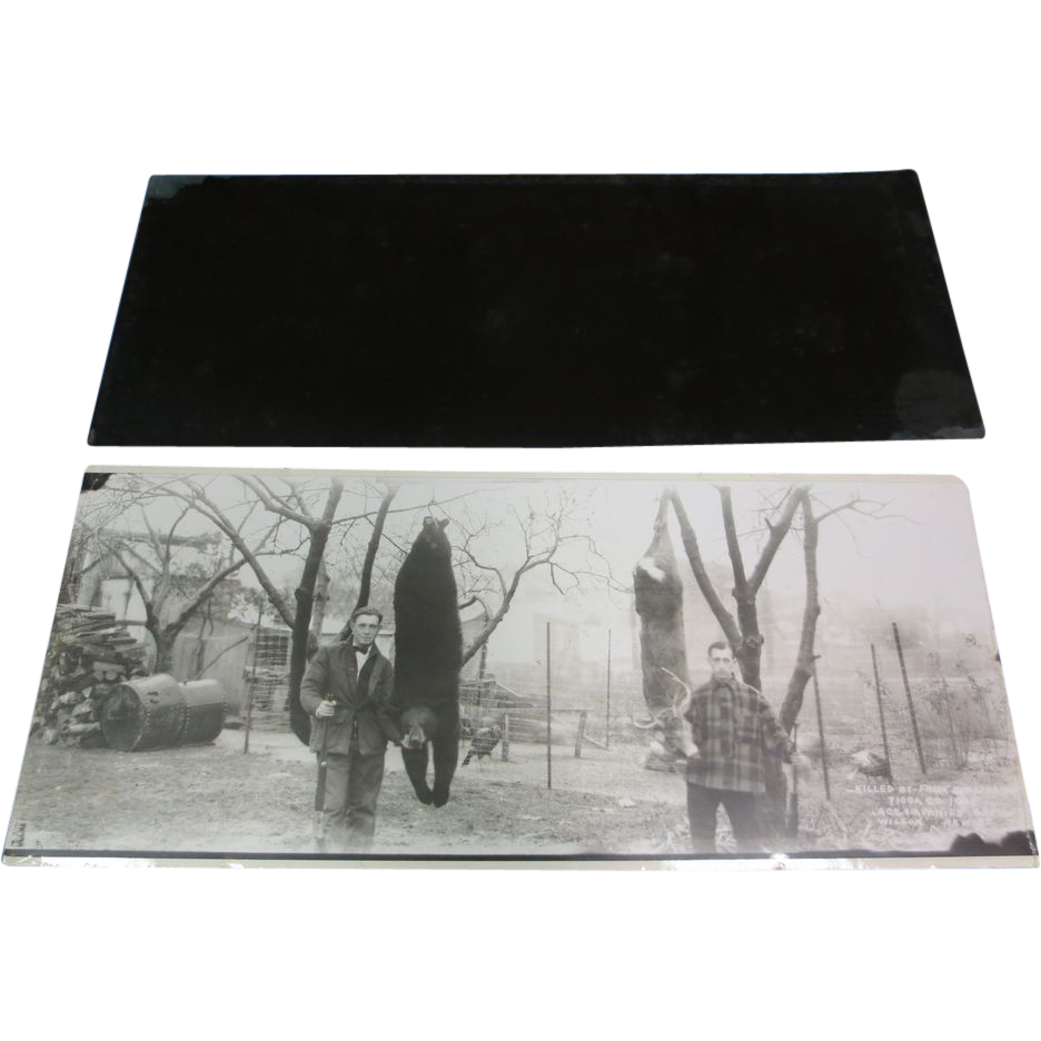 "16"" x 6"" Negative W/ Photo Re-Print Hunting"