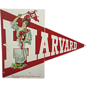 Rare Harvard Foldout 1920's Postcard