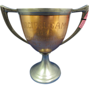 2ND Mixed Metal 1918 1ST Prize Bicycle Trophy Cup