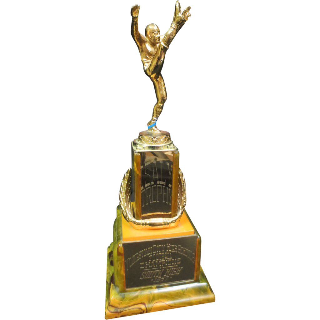 Amazing Catalain Vintage Figural Football Trophy