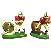 Rare Sears & Robuck 1970's Clock & Pencil Sharpener Figural Sculpture