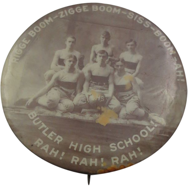 Vintage 2&quot; Basketball 1920's Team Pinback