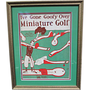 Vintage Golf Sheet Music-I've Gone Goofy OVer Miniature Golf!-1930's