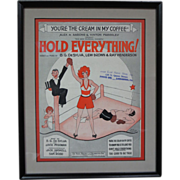 Vintage Boxing Sports Sheet Music