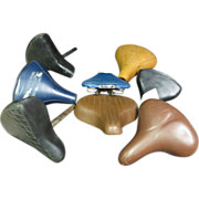 Group of 8 Vintage Bicycle Bike Seats