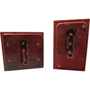 Pair of 1930's Vintage Elevator Machine Age Control Panels