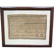 1843 Antique Sampler