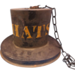 19th Century American Tin Hat Trade Sign
