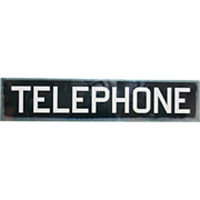 Reverse Glass Painted Telephone Sign