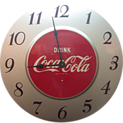 Electric Coca-Cola Wall Clock Advertising