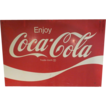 "HUGE-Vintage 54"" x 36"" Flat Tin Coca Cola Sign"