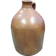 Antique Brown Stoneware 1 Gallon F.T. Wright & Son Jug