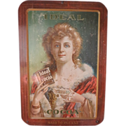 RARE-Antique Original Ideal Cocoa Tin Sign-WOW!