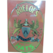 Antique Roelof's Hats Reverse Glass Painted Advertisement Sign