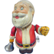 Vintage Tin Wind Up Santa Toy