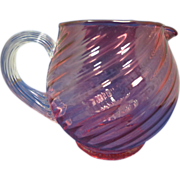 Cranberry Swirl Pitcher