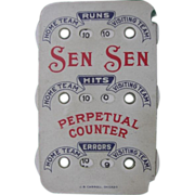 Vintage 1920's Sen Sen Baseball Scorer Perpetual Counter