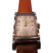 Vintage Hamilton Scalloped Two Toned Wristwatch