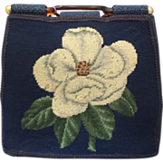 Vintage Dogwood Petit Point Purse