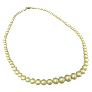 "18"" Czech Graduated Pearl Like Necklace"