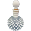 Fenton Clear Opalescent Hobnail Glass Barber Perfume Bottle
