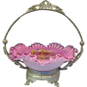 Antique Glass Brides Bowl