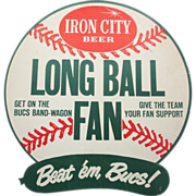 1960s Iron City Beer Advertising Long Ball Fan  Beatem Bucs