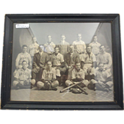 Framed Brockton Baseball Team Photo 1890-1910