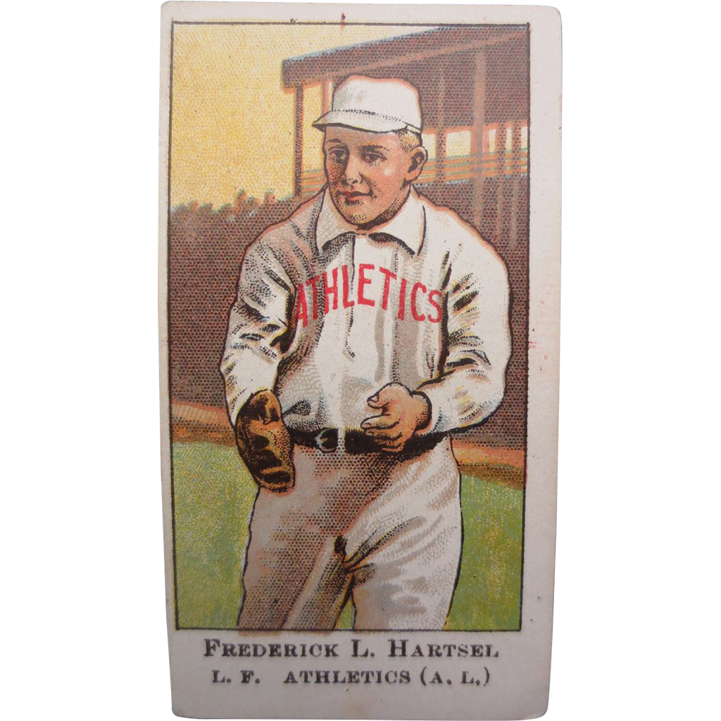 Baseball Card Philadelphia American Caramel Co. - Federick Hartsel  Philadelphia Athletics